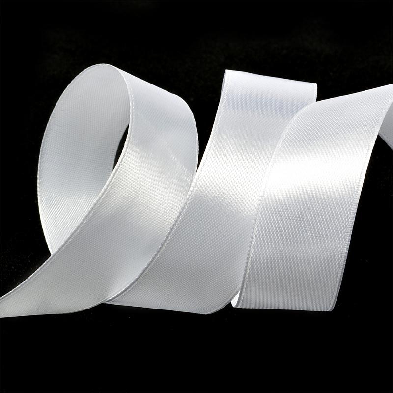 Атласная лента 2.5 см (бабина) белый