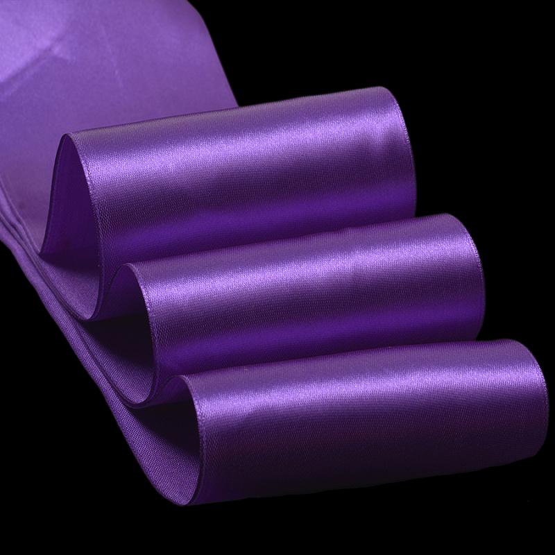 Атласные ленты 4 см (1 метр), фиолетовый №2