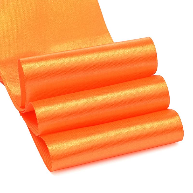 Атласные ленты 4 см (1 метр), оранжевый