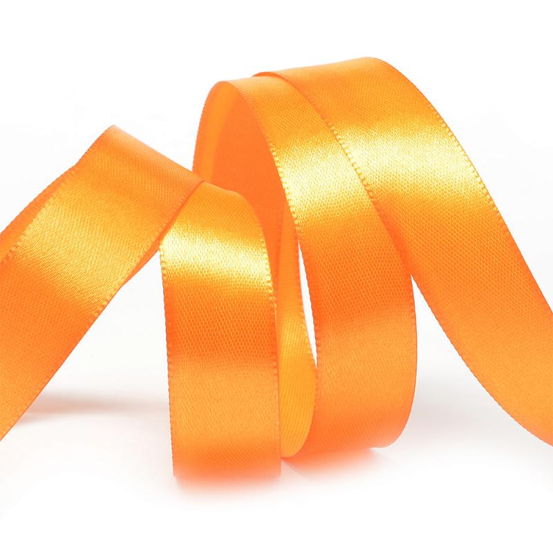 Атласная лента 2.5 см (бабина) оранжевый