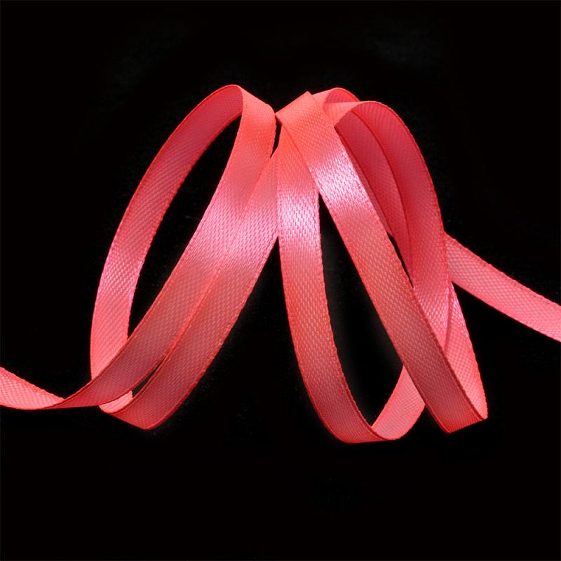 Атласная лента 0,6 см (бабина) ярко-розовый