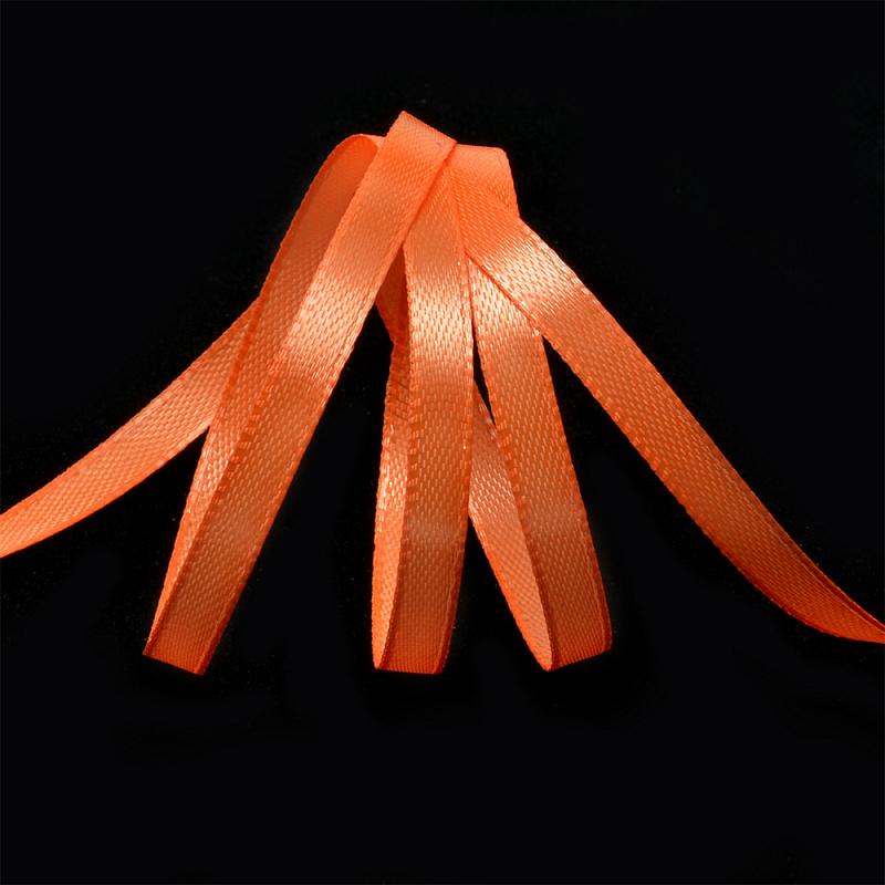 Атласная лента 1,2 см (бабина) оранжевый