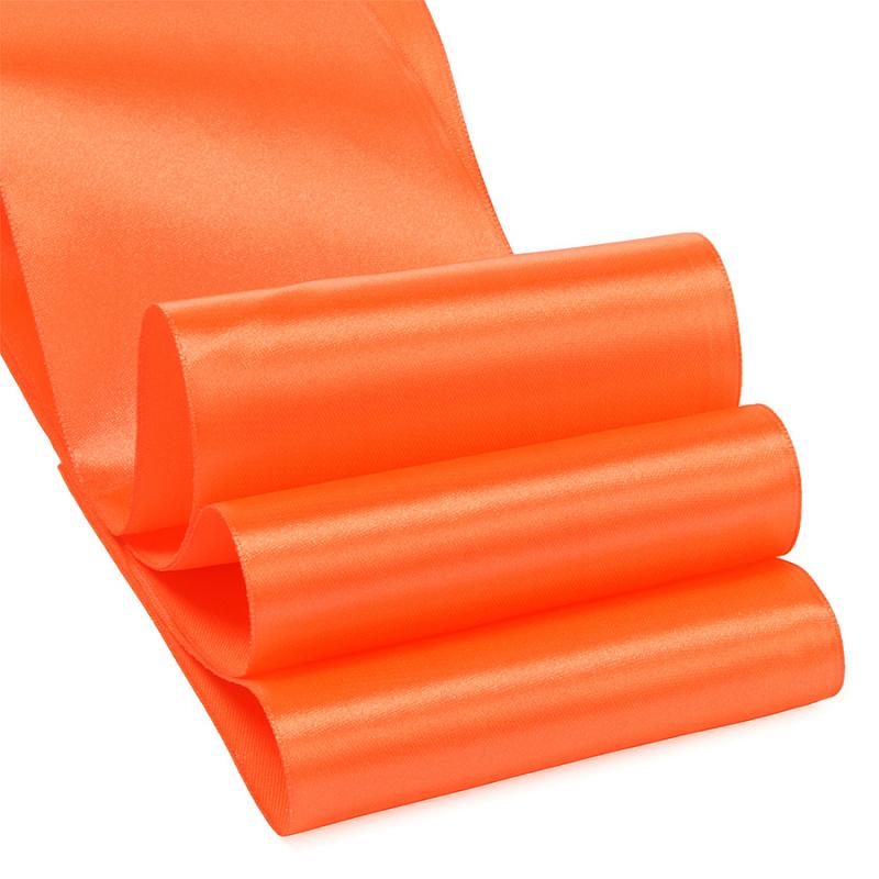 Атласная лента 5 см (1 метр), тёмно-оранжевый