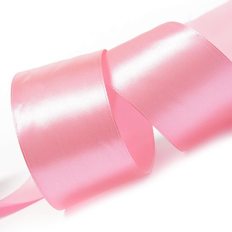 Атласная лента 5 см (1 метр), светло-розовый