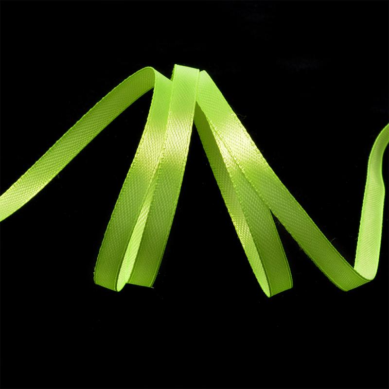 Атласная лента 1,2 см (бабина) салатовый
