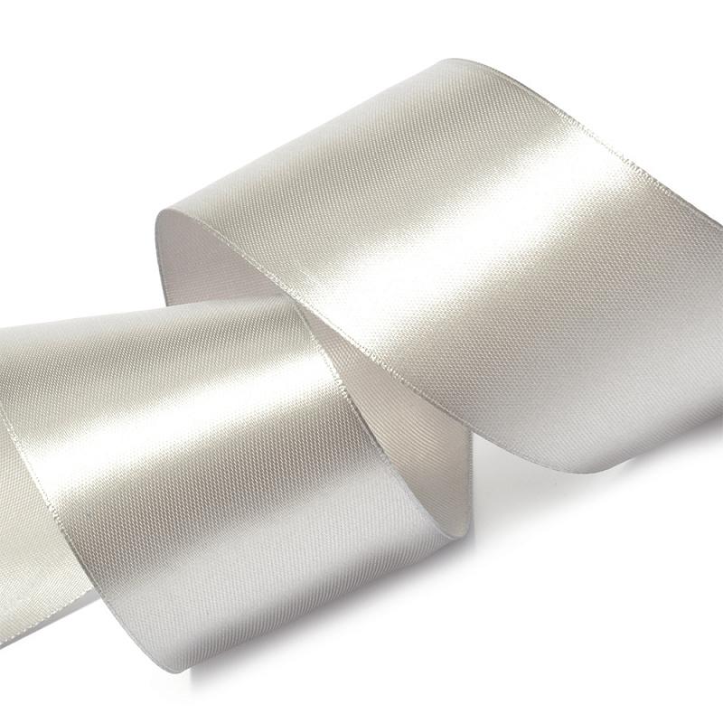 Атласная лента 2.5 см (бабина), серый
