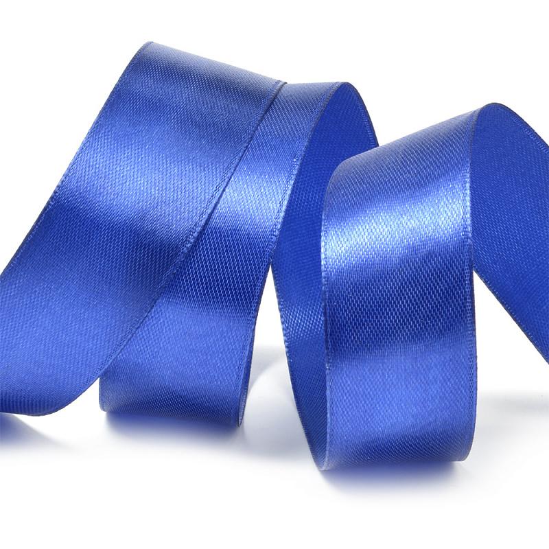 Атласная лента 2.5 см (бабина) синий