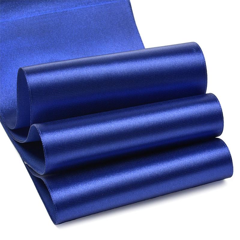 Атласная лента 5 см (1 метр), синий