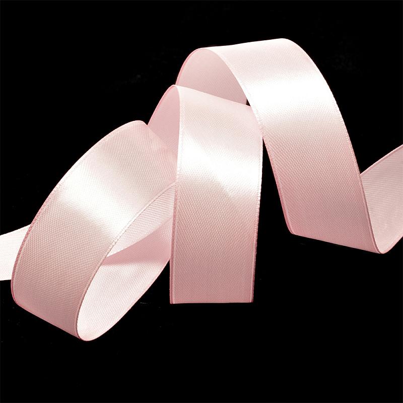 Атласная лента 2.5 см (бабина), розовый 43