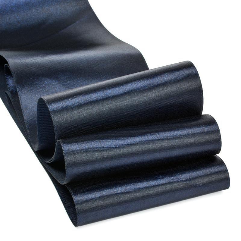 Атласная лента 4 см (бабина), т.тёмно-синий