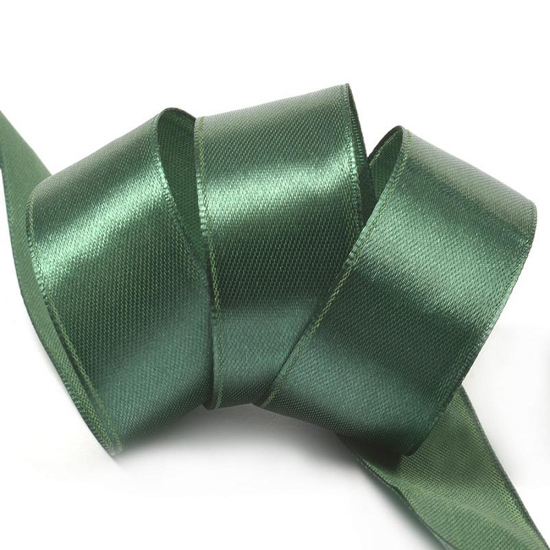 Атласная лента 2.5 см (бабина), зелёный 56