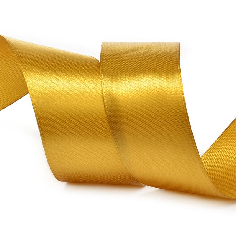 Атласные ленты 4 см (1 метр), тёмное-золото