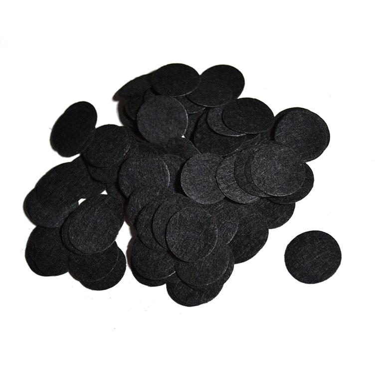 Фетровые кружочки 2,5 см, черный (50 шт)