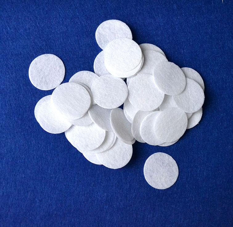 Фетровые кружочки 2,5 см, белый (10 шт)