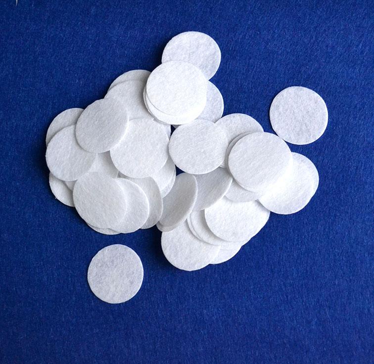 Фетровые кружочки 2 см, белый(10 шт)