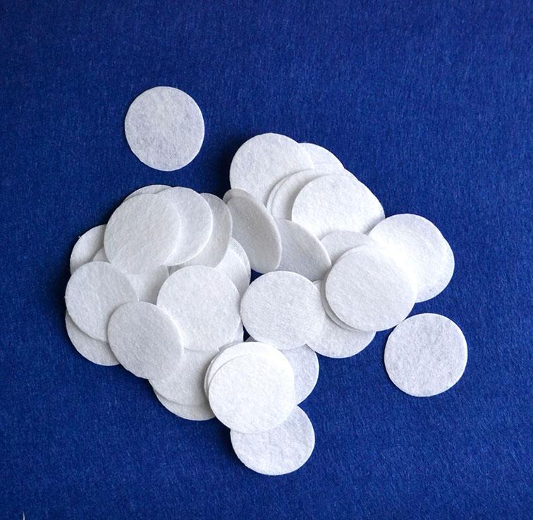 Фетровые кружочки 3 см, белый (10 шт)