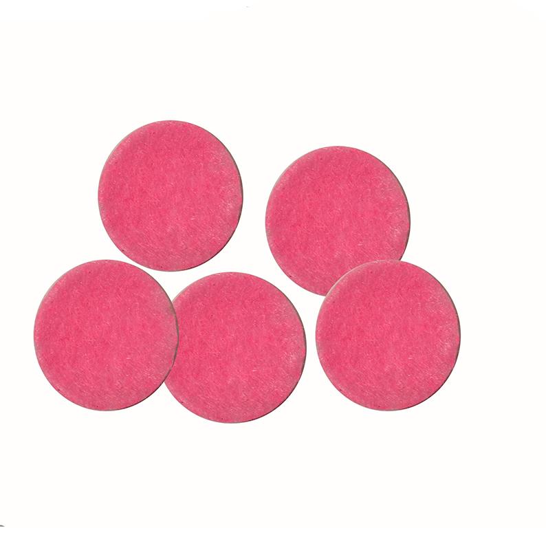 Фетровые кружочки 3 см, розовый (10 шт)