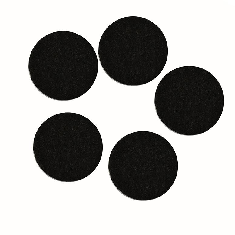 Фетровые кружочки 3 см, чёрный (50 шт)