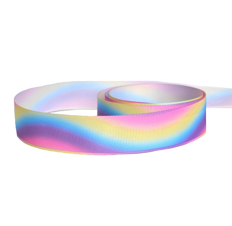 Репсовая лента «Градиент» 2,5 см