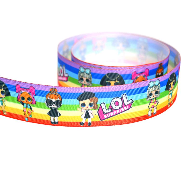 Репсовая лента «Лол» 2,5 см