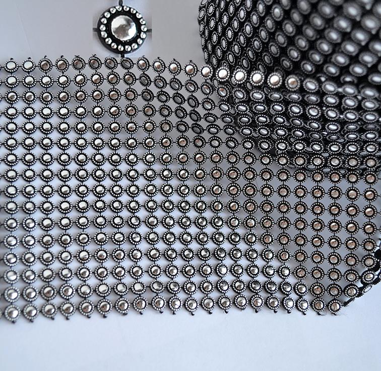 Стразовое полотно, серебро (20 см)