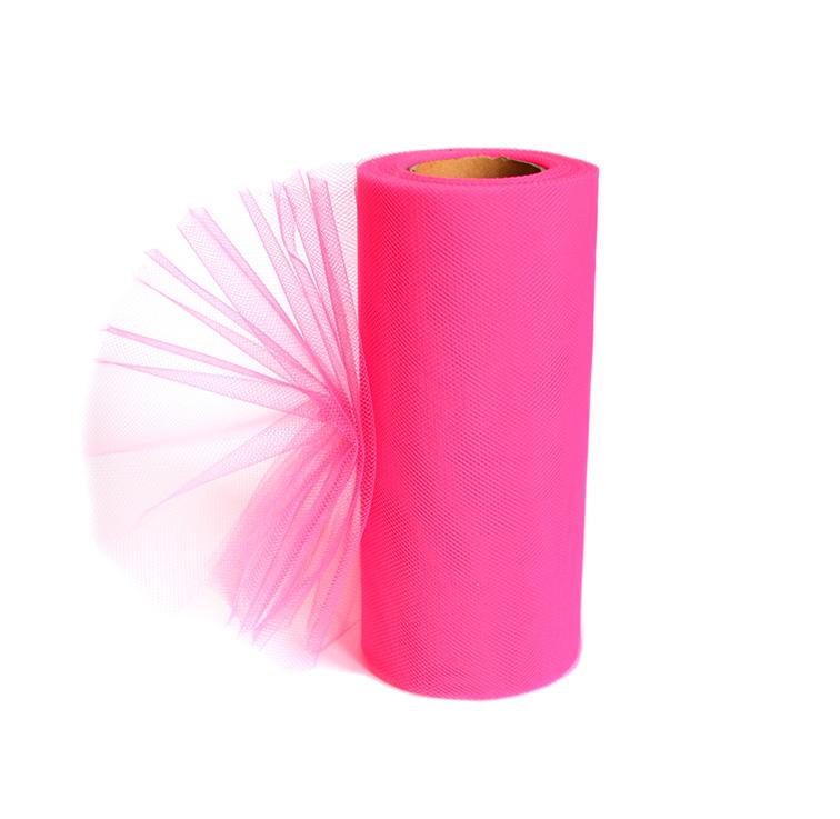 Фатин 15 см ярко-розовый
