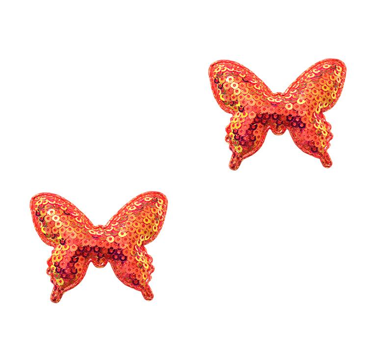 Патч с пайетками «Бабочка» 5.5*4.5 см, хамелеон