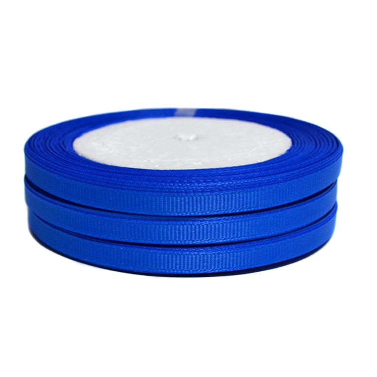 Лента репсовая 0.6 см, синий (бобина)