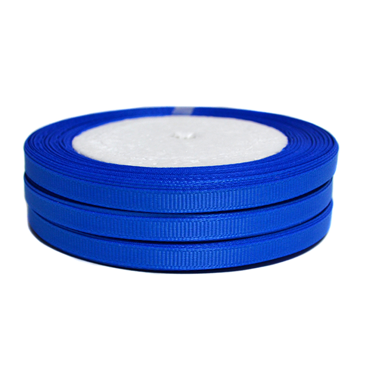 Лента репсовая 0.6 см, синий (1 метр)