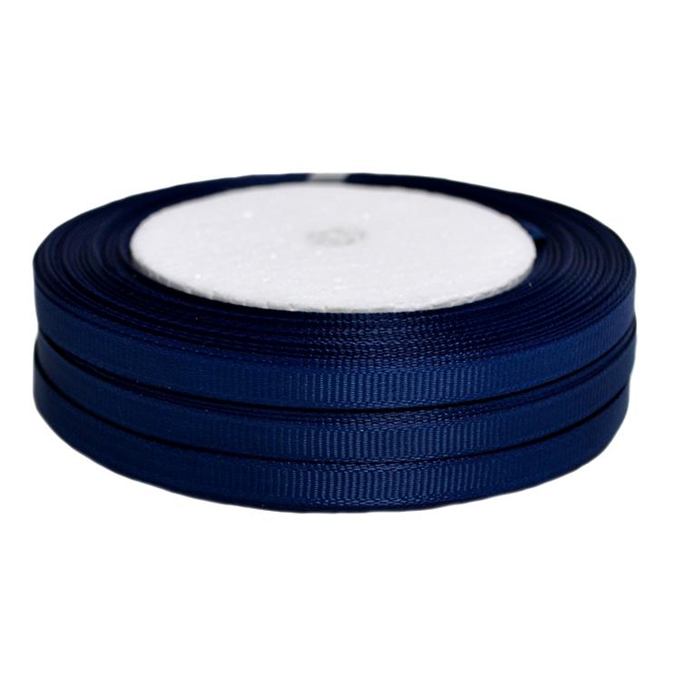 Лента репсовая 0.6 см, т. синий (1 метр)