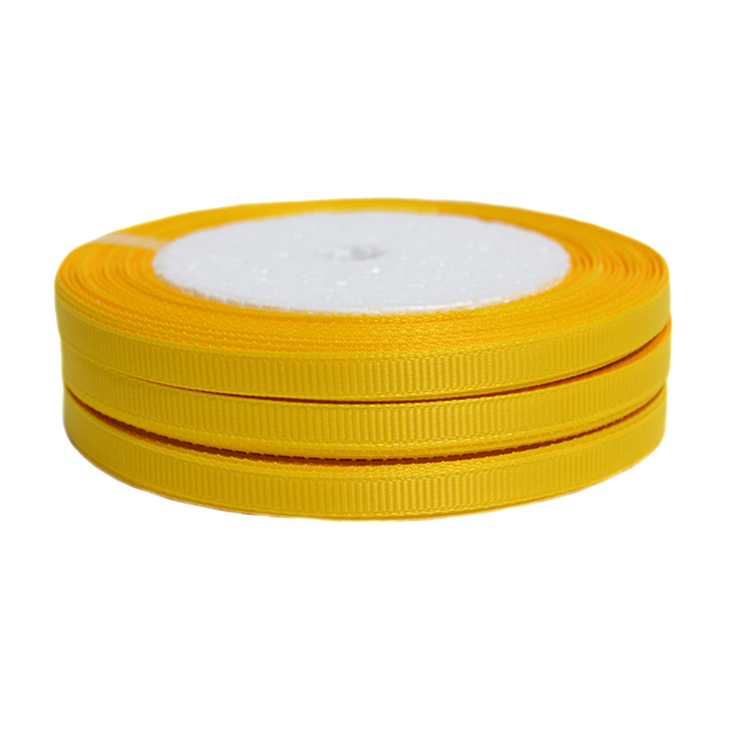 Лента репсовая 0.6 см, желтый (1 метр)