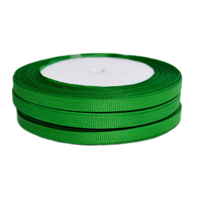 Лента репсовая 0.6 см, зелёный (бобина)