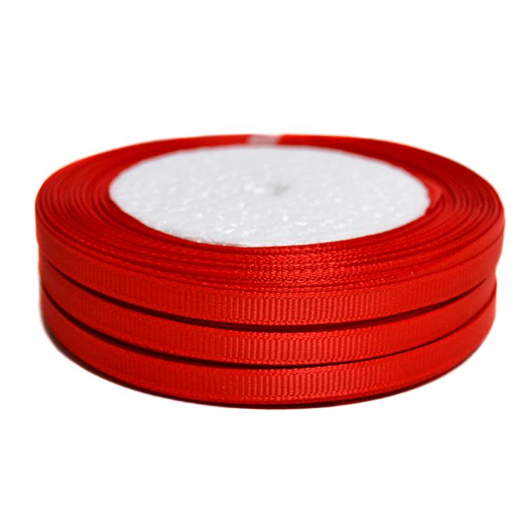 Лента репсовая 0.6 см, красный (1 метр)