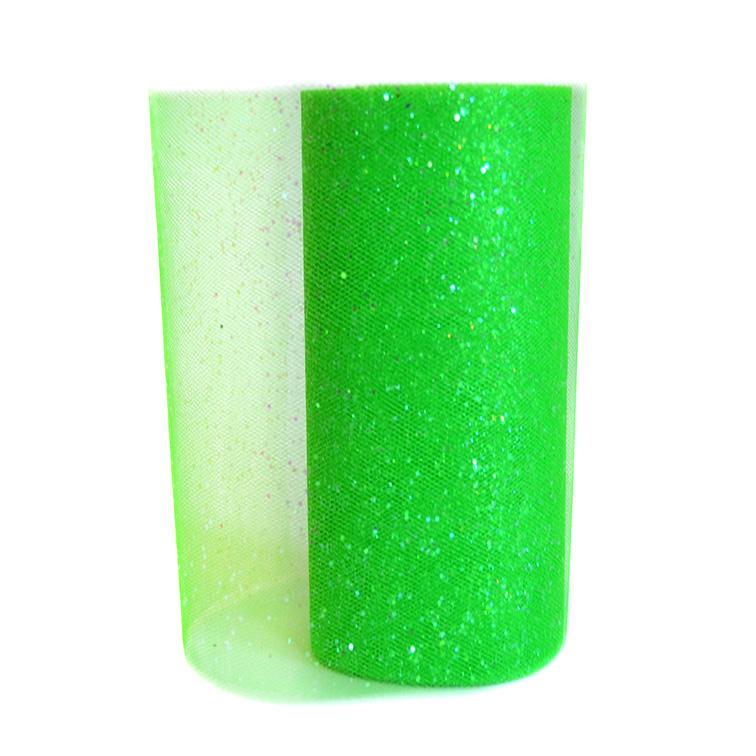 Фатин с блёстками 15 см, зелёный (1 метр)