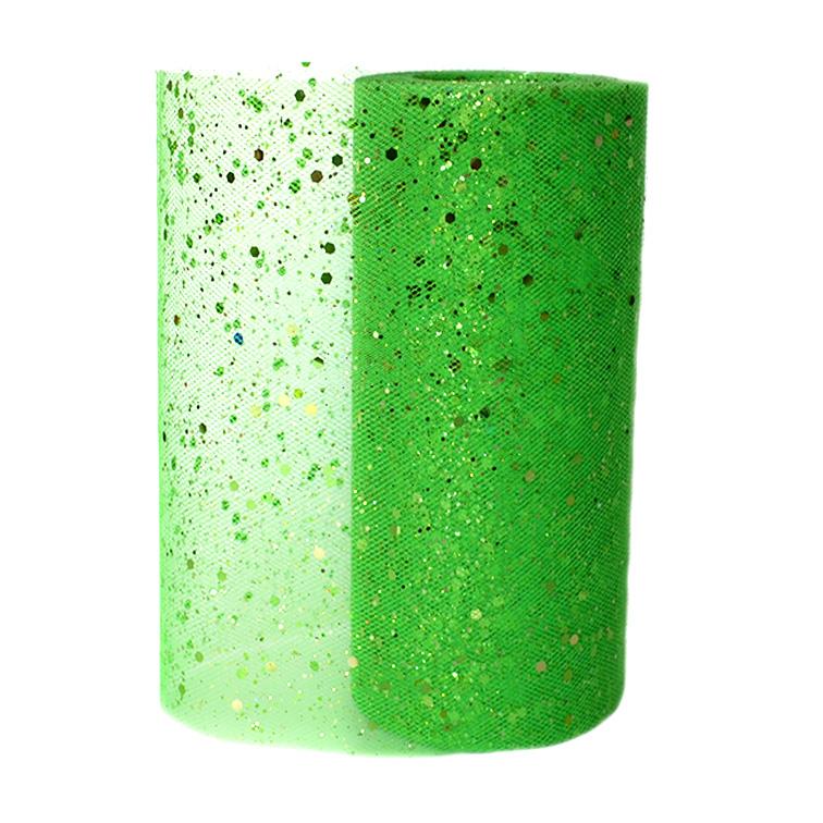 Фатин с пайетками 15 см зелёный