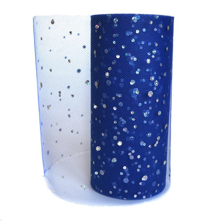 Фатин «Горох» 15 см, синий