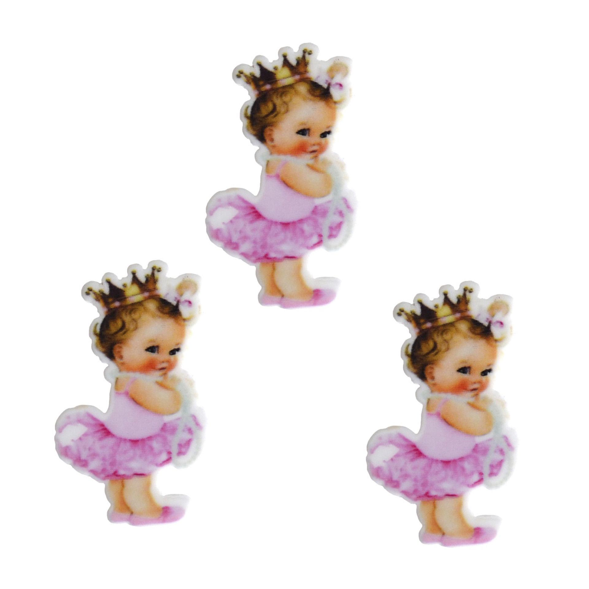 Кабошон-вырубка «Маленькая принцесса» 36*22 мм