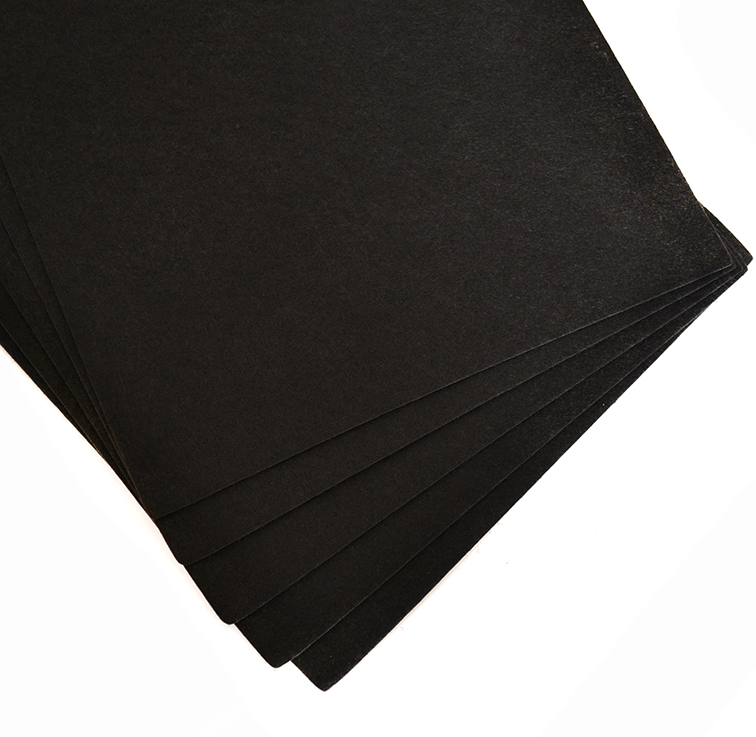 Фетр жёсткий 1 мм, чёрный