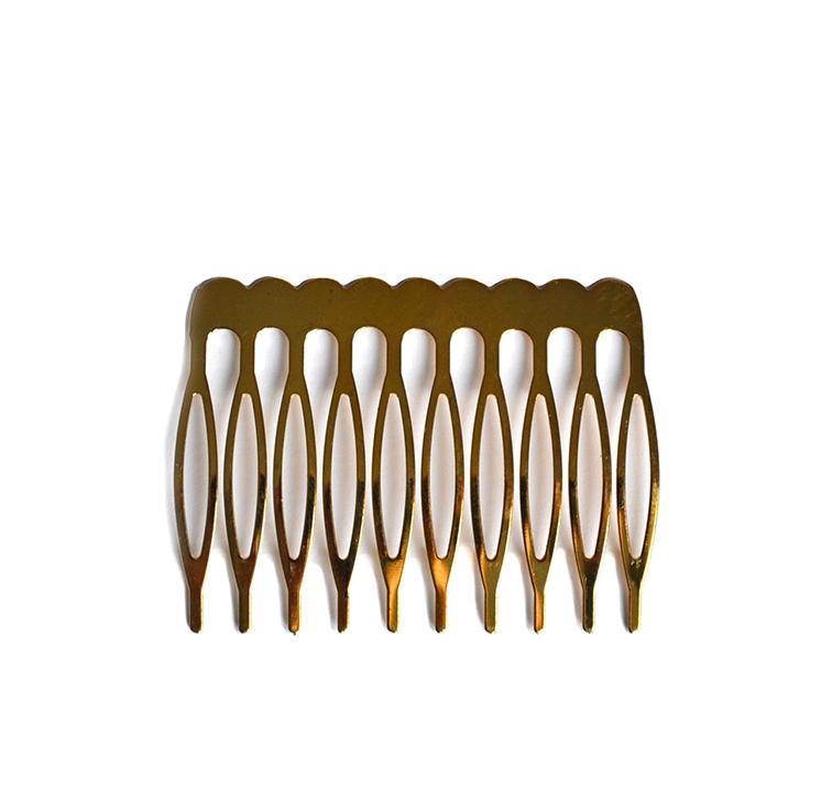 Гребень металлический 3,5 см (1 шт), золото