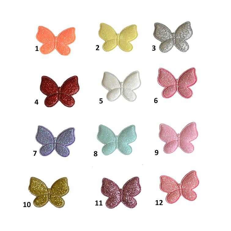 Патч с блёстками «Бабочка» 3.2*2.4 см, ассорти
