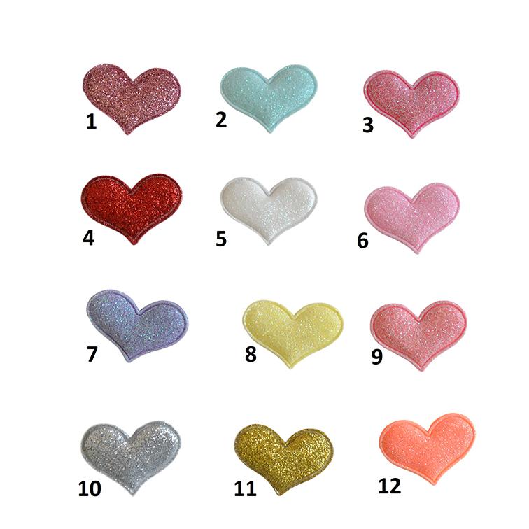 Патч с блёстками «Сердце» 3.2*3.2 см, ассорти