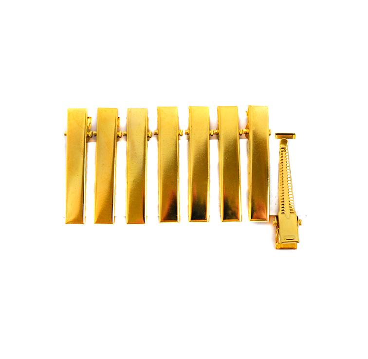 Заколки-зажимы 4 см, (1 шт), золото