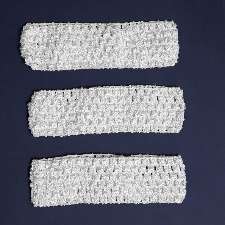 Повязка-резинка 4 см., сеточка, белый (1 шт)