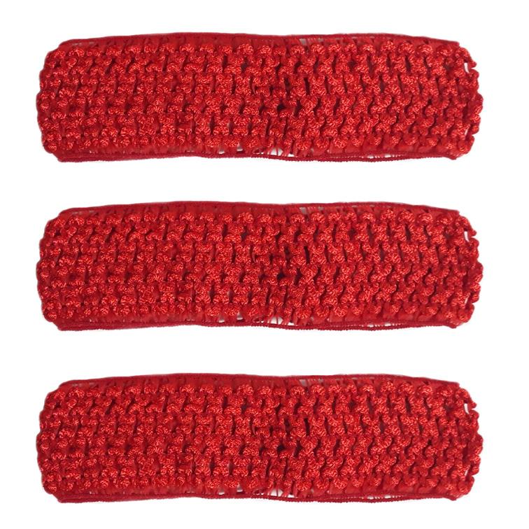 Повязка-резинка 4 см., сеточка, красный (1 шт)