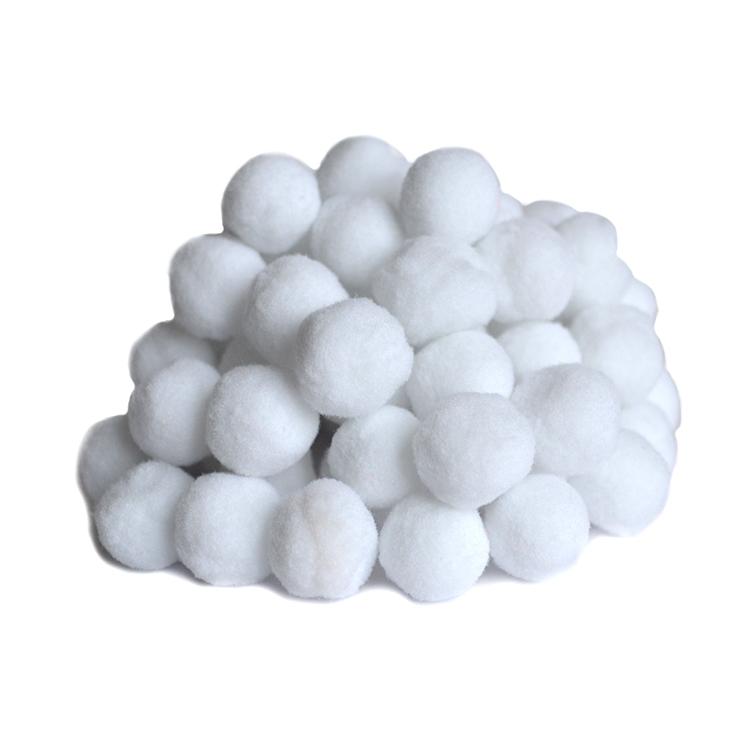 Помпоны Premium 1.5 см, белый, 10 шт