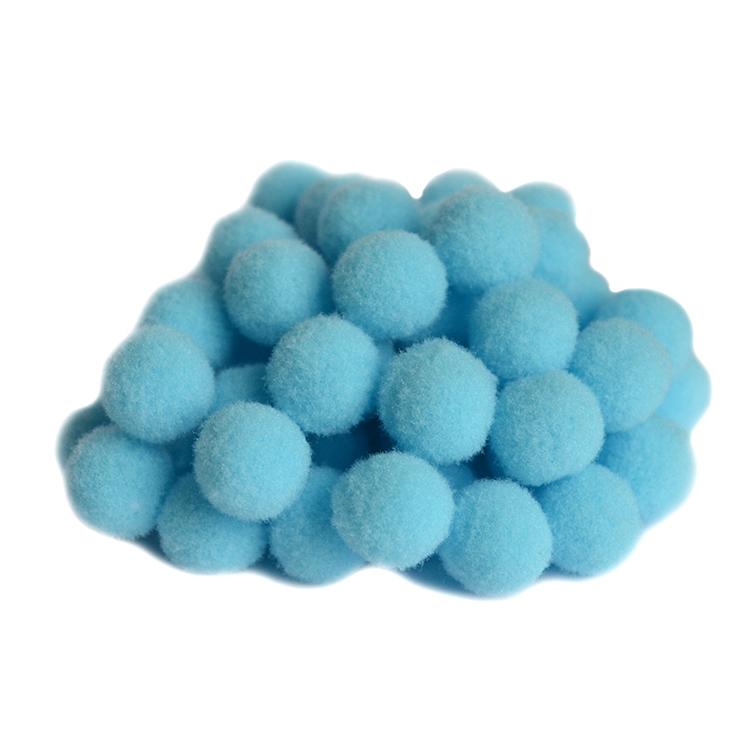 Помпоны Premium 1.5 см, голубой, 10 шт