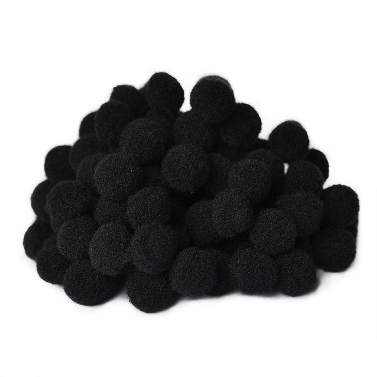 Помпоны Premium 1.5 см, чёрный, 10 шт