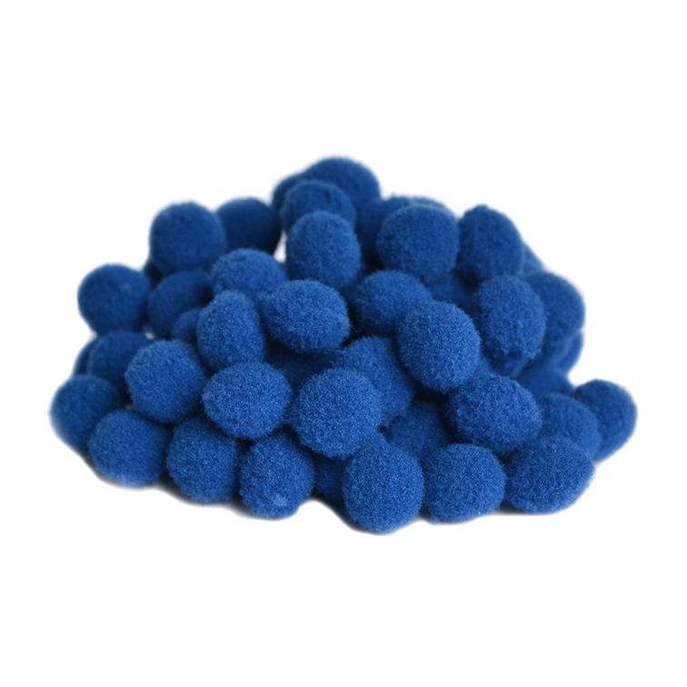 Помпоны Premium 1 см, синий, 10 шт