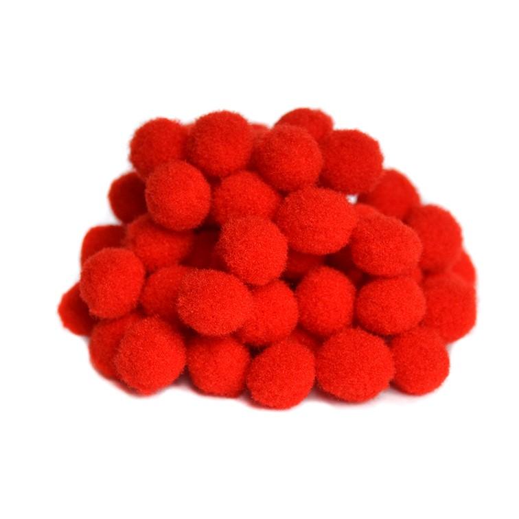 Помпоны Premium 1.5 см, красный, 10 шт