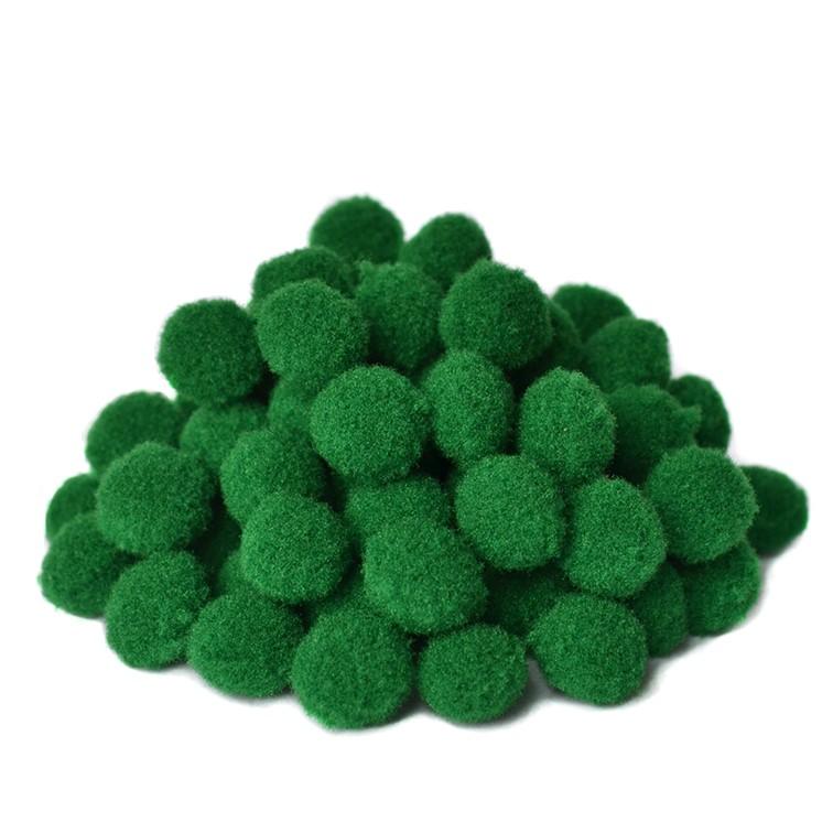 Помпоны Premium 1.5 см, зелёный, 10 шт